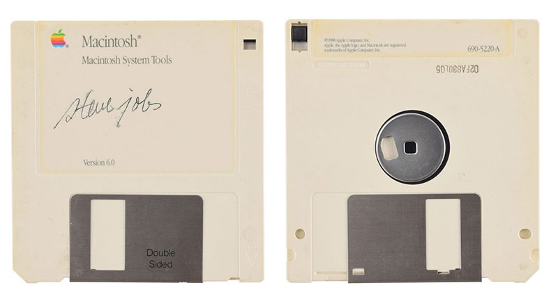 Steve Jobs İmzalı Disket 2