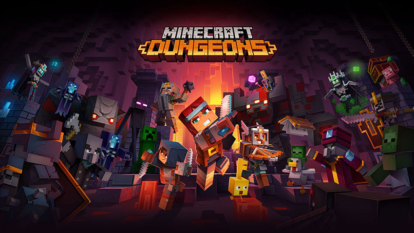 Minecraft Dungeons Oynanış Videosu