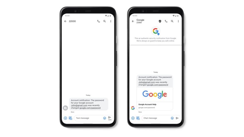 google onaylı sms