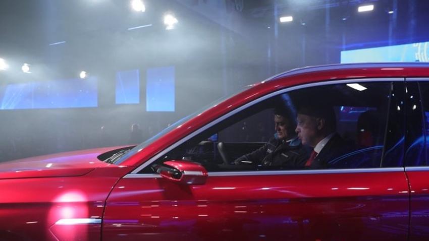 Erdoğan Yerli Otomobilin Sürücü Koltuğunda