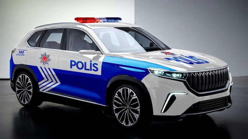 Yerli Otomobil, Polis Aracı Oldu! EGM Paylaştı