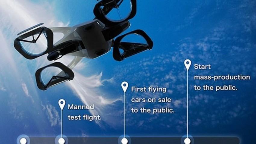 skydive uçan araba planı