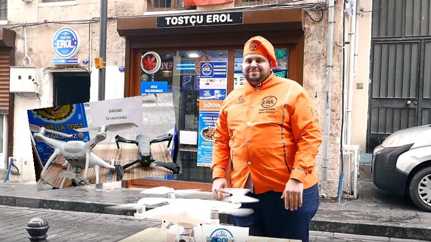 Tostçu Erol, Drone ile Teslimat Yaptı