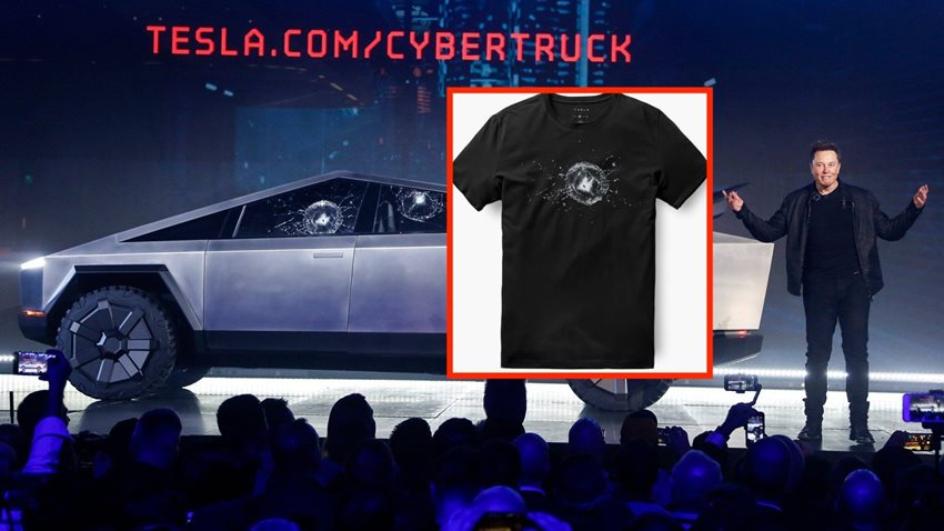 Tesla, Cybertruck'lı Yeni T-shirtler Tasarladı
