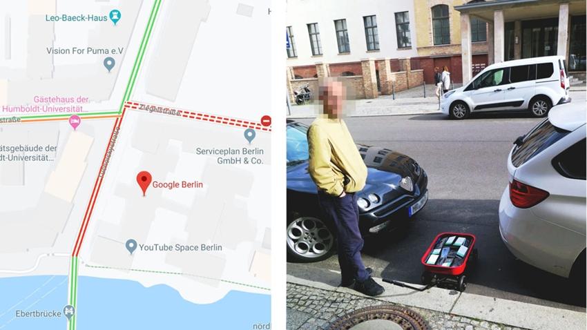google maps sanal trafik sıkışıklığı