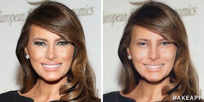 Melania Trump makeapp