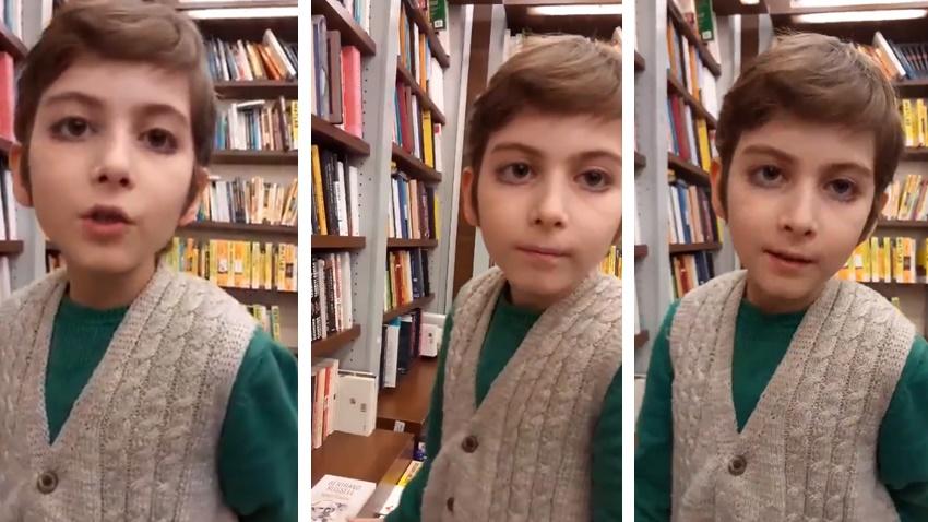 5 Ayda 250 Kitap Okuyan Atakan, Sosyal Medyada Gündeme Oturdu