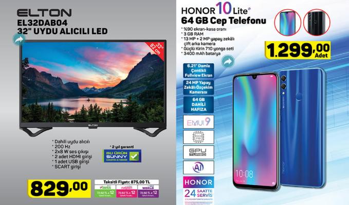 Elton EL32DAB3037 32 Uydu Alıcılı Led Tv  Honor 10 Lite