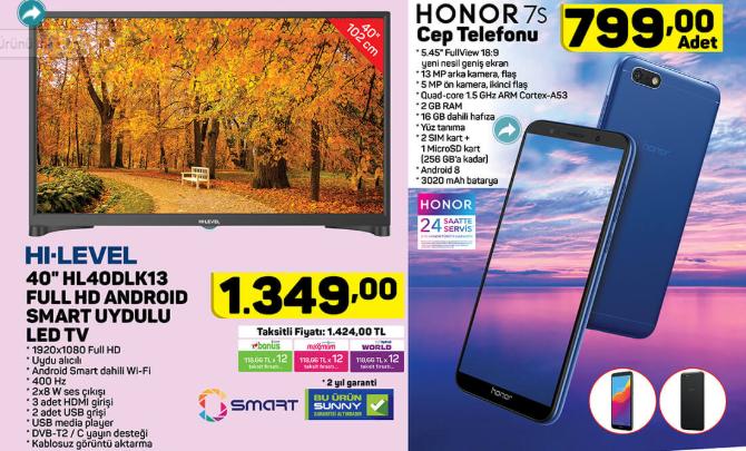 Hi Level HL40DLK13-TNR 40 Full HD Android Smart Led Tv  Honor 7S