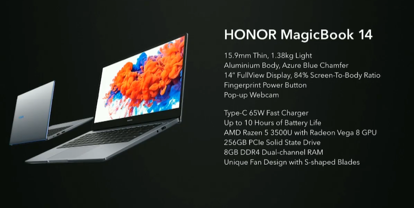Honor MagicBook 14 Özellikleri