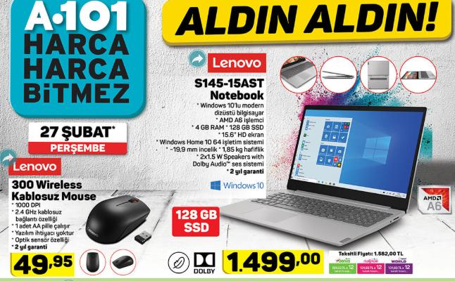 Lenovo 81N300DSTX Ideapad S145-15AST Notebook Lenovo 300 Wireless Kablosuz Mouse