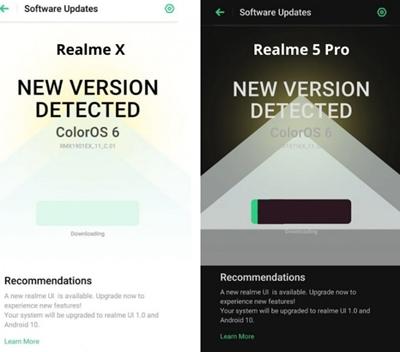 Realme X ve Realme 5 Pro, Android 10 Güncellemesi Alıyor!