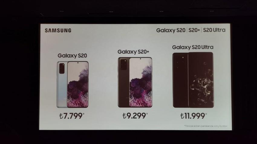 Samsung Galaxy S20 Serisi Türkiye Fiyatları