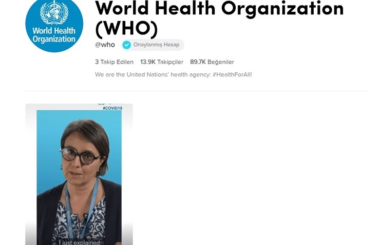 Dünya Sağlık Örgütü Çevirim içi Bilgilendirme Yapıyor