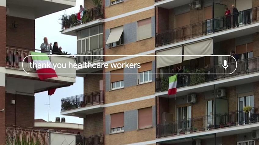 google sağlık çalışanlarına teşekkür