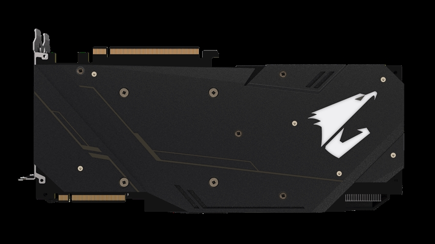 Gigabyte AORUS GeForce RTX 2080 SUPER 8G metal arka plan