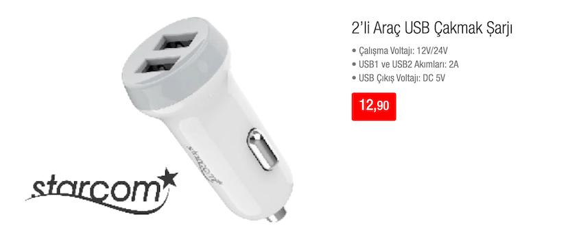 2'li Araç USB Çakmak Şarjı