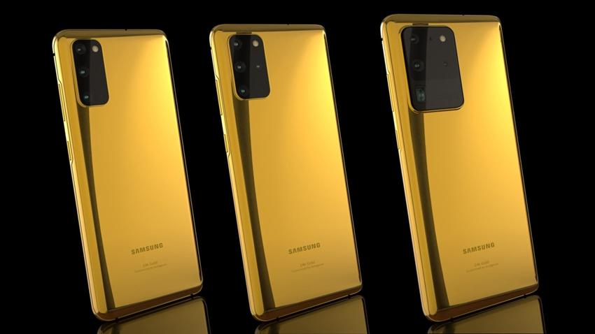 24 Ayar Altın Kaplama Galaxy S20 Tanıtıldı! İşte Fiyatı