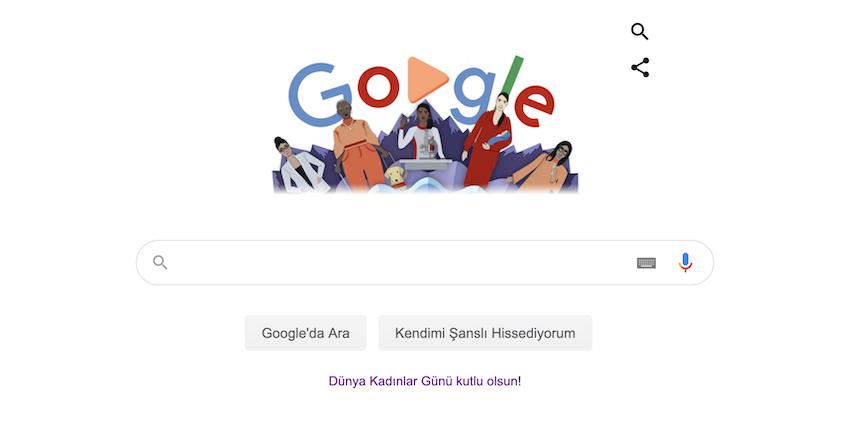 Google'dan 8 Mart Dünya Kadınlar Günü'neÖzel Doodle