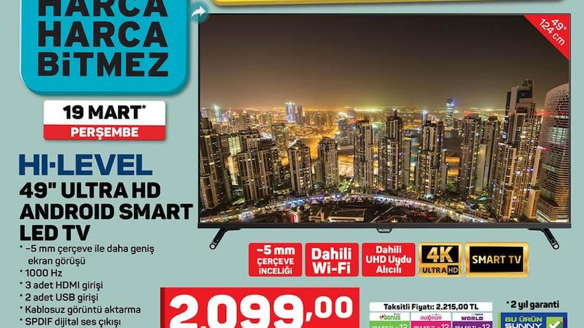 Hi Level 49'' Ultra HD Android Smart Led TV