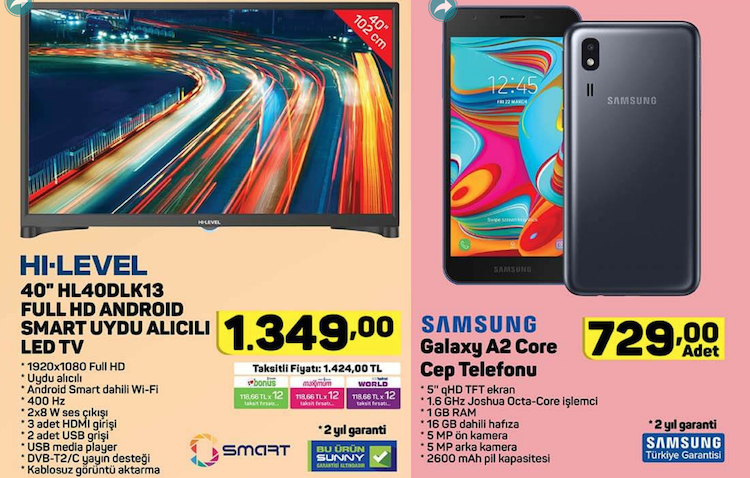 "Hi Level HL40DLK13-TNR 40"" Full HD Android Smart Led Tv /Samsung Galaxy A2 Core"