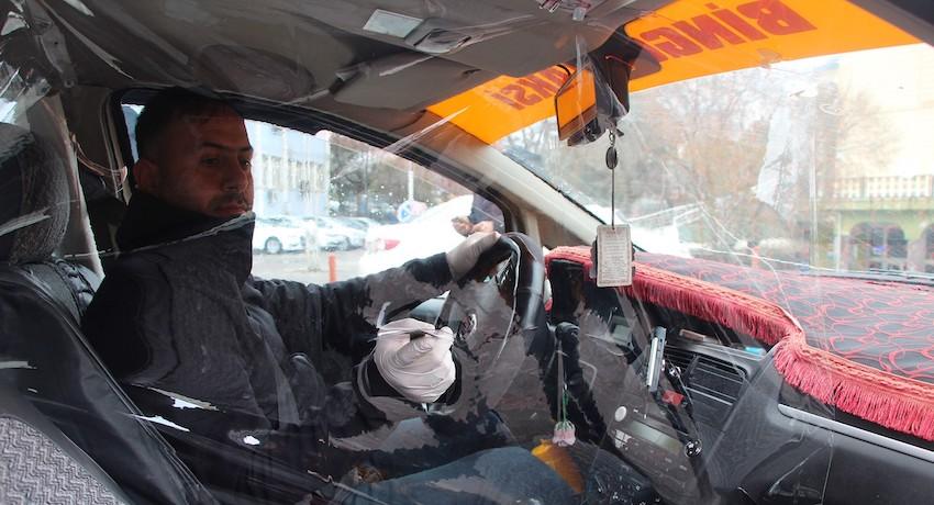 Taksiciden Koronavirüs Önlemi!