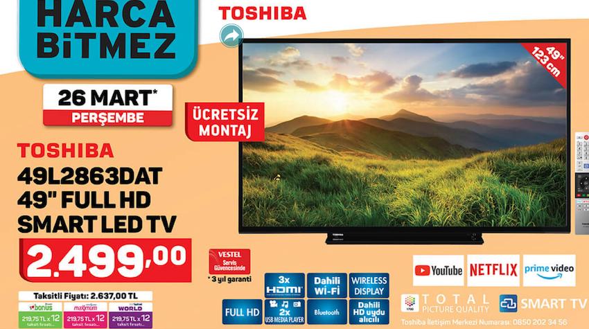 "TOSHİBA49L2863DAT 49"" Full HD Smart Led TV"