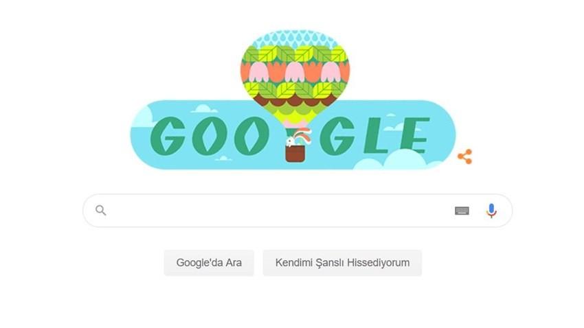 Google İlkbaharın Gelişi Doodle