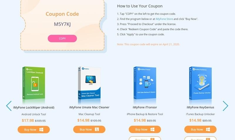 iMyFone Kupon Kodları