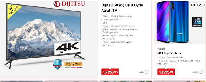 dijitsu-50-inc-uhd-uydu-alicili-tv-meizu-m10-cep-telefonu