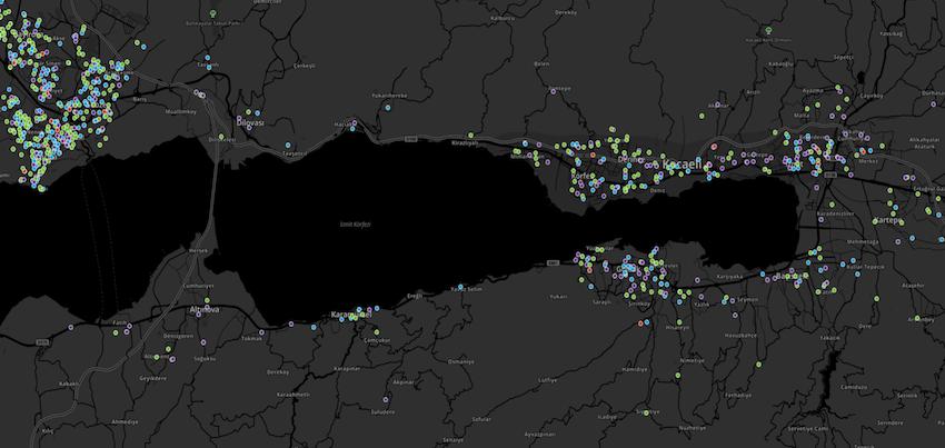 Kocaeli Koronavirüs Haritası