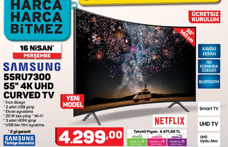 "Samsung 55RU7300 55""4KUltra HD Curved TV"