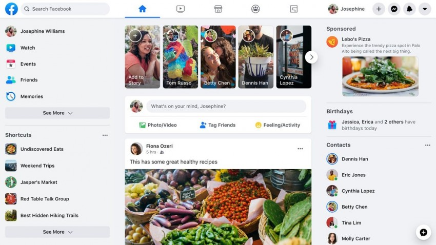 Facebook Yeni Tasarımı