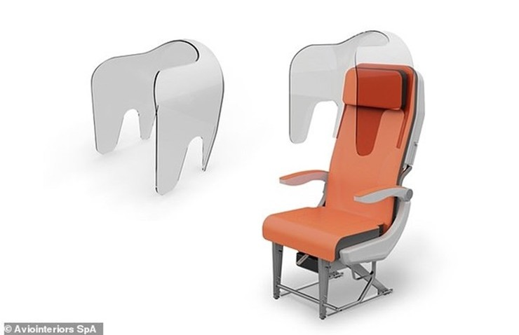 Koronavirüsü Sonrası Uçakla Seyahat için Yeni Koltuk Tasarımı Geliştirildi