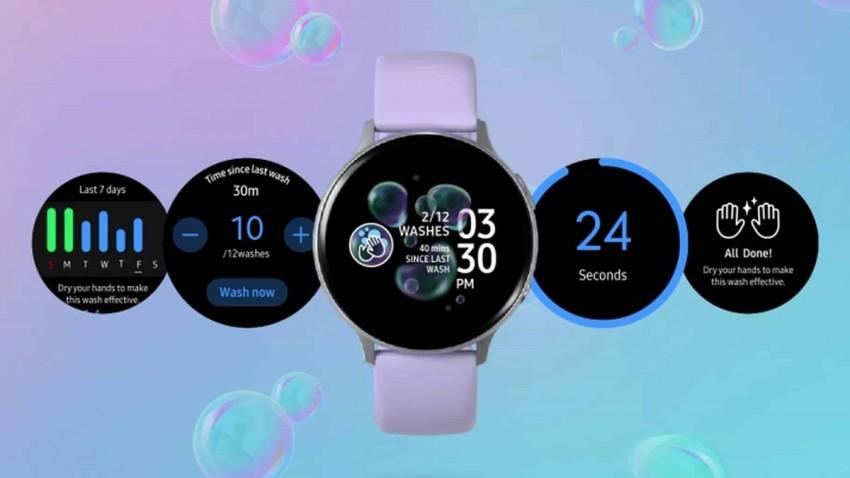 Samsung Galaxy Watch'lara El Yıkama Uygulaması Geliyor