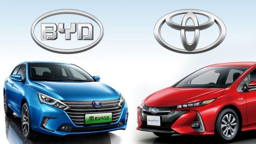 Toyota ve BYD EV için Güçlerini Birleştirdi