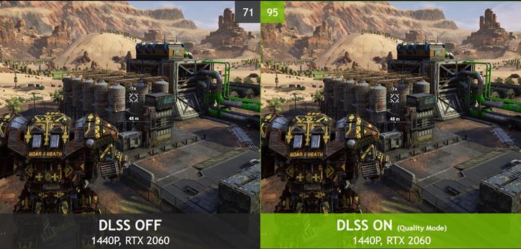 MechWarrior 5 DLSS 2.0 açık kapalı