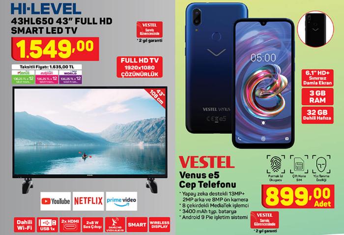 Hi-Level 43HL650 Smart Led TV / Vestel Venus E5