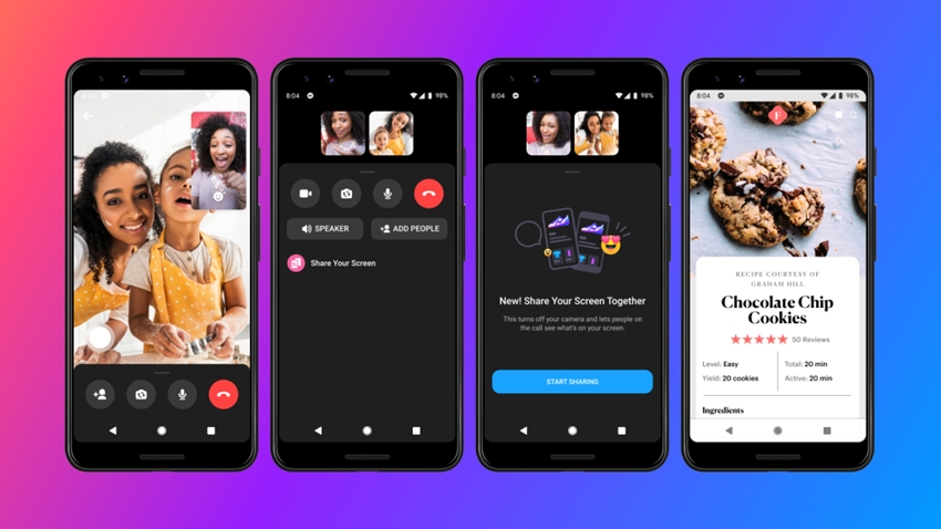 Facebook MessengerEkran Paylaşımı Özelliği Kullanıma Açıldı
