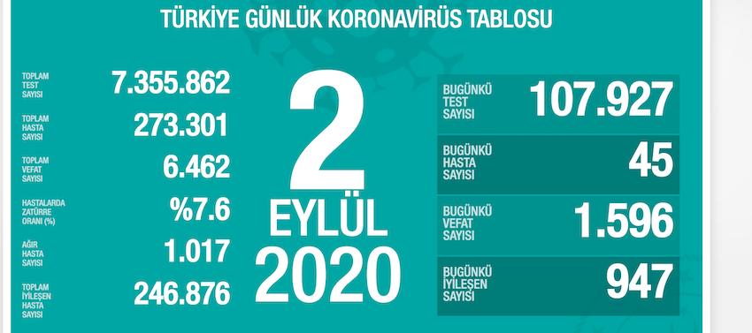2-eylul-turkiye-koronavirus-toplam-vaka-sayisi-ve-can-kaybi
