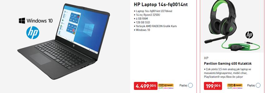 HP Laptop ve Oyuncu Aksesuarları