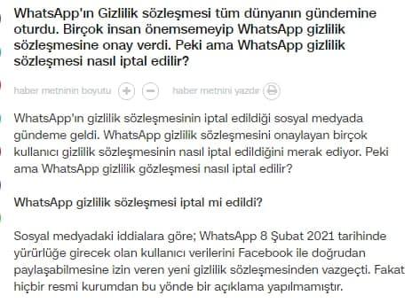 cnn türk whatsapp geri döndü