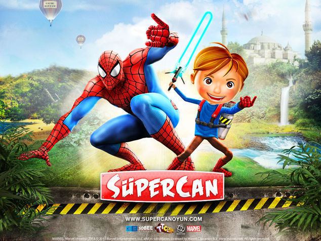 <strong>Spider Man ve Süpercan<br></strong>