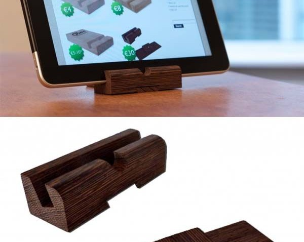 Ultra Portable Wooden iPad Stand