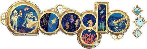 Jules Verne Doodle