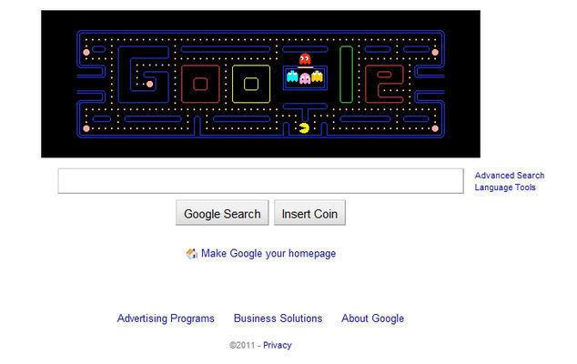 Pac-Man, Google Doodle Hediyesi