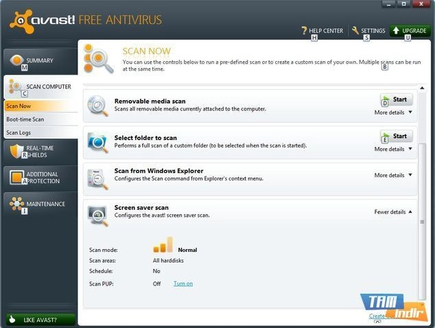 Avast 6 Beta Scan