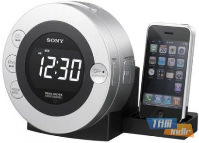 Sony ICF-CD3iP Clock Radio iPhone Dock