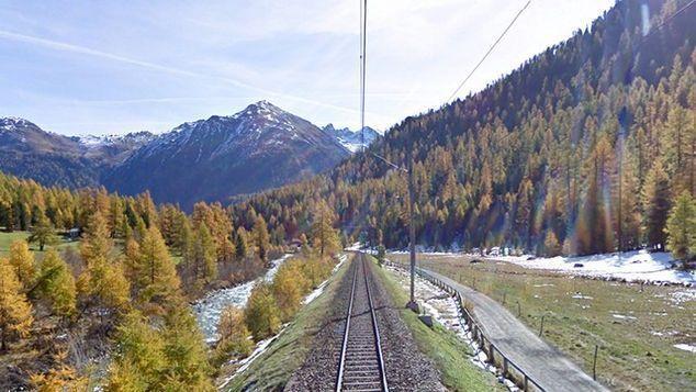İsviçre Alpleri demiryolu