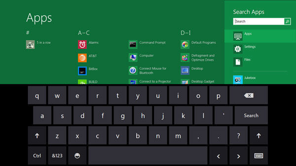 Windows 8 Sanal Klavye